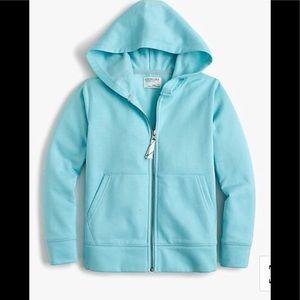 NWT Crewcuts Kids' fleece full-zip hoodie.